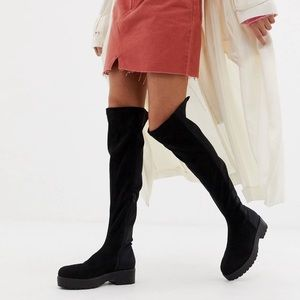 ASOS Black Over the Knee Boots